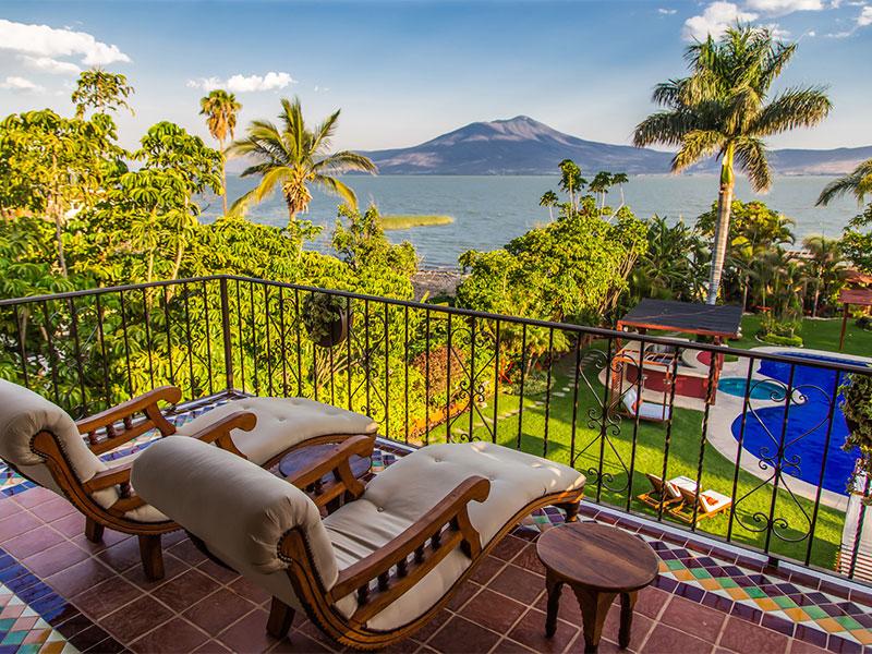 Habitacion con vista al lago de Chapala